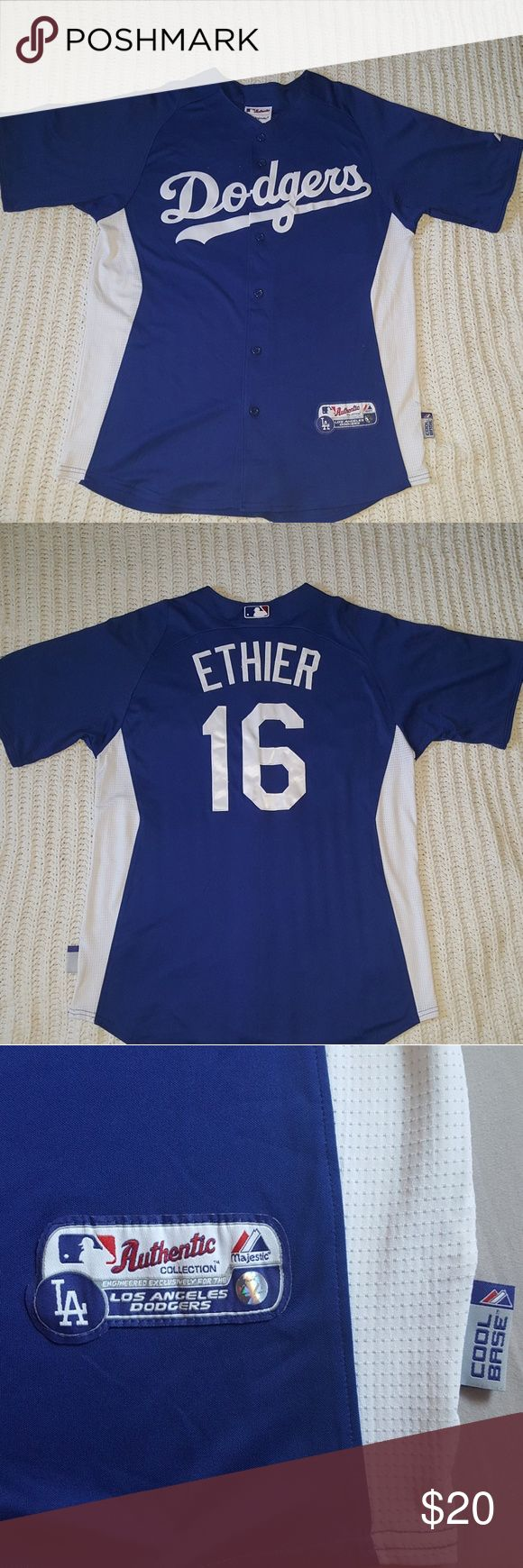 Mens Dodgers baseball Jersey Ethier #16 Dodgers Jersey. Only worn a few times Shirts Casual Button Down Shirts