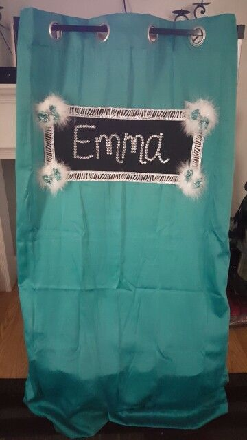 Emma's competition dance bag curtain