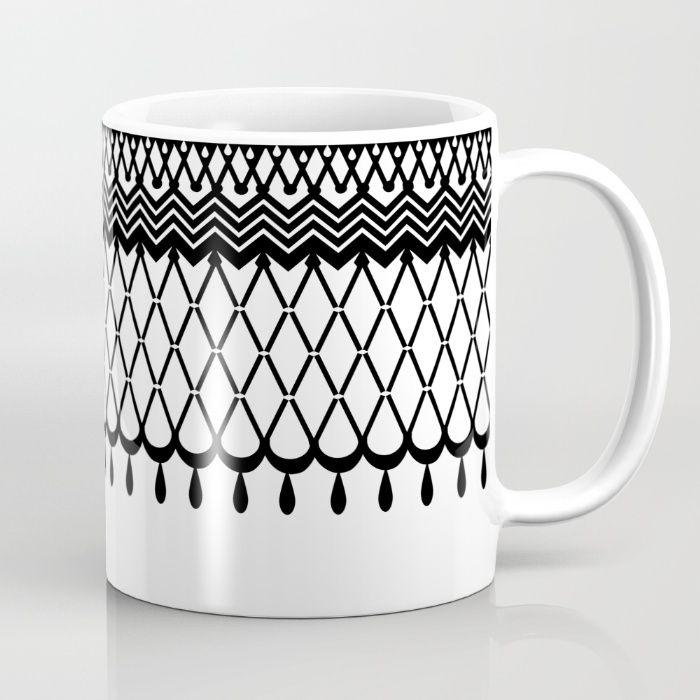 GRANDMOTHER'S CROCHET  #1 Mug by WALL MANIAC design, home, b&w, vintage