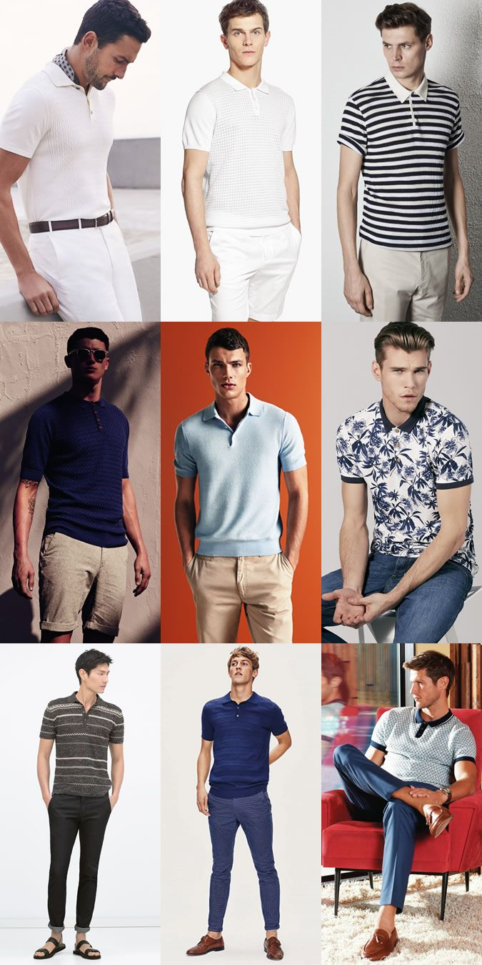 2015 Spring/Summer Recommended Wardrobe Additions: Printed Or Knitted Polo Shirt Lookbook Inspiration