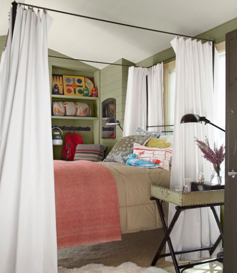 When You Drape Curtains Around An Iron Frame You Can Add Privacy And Romance To Even The Most
