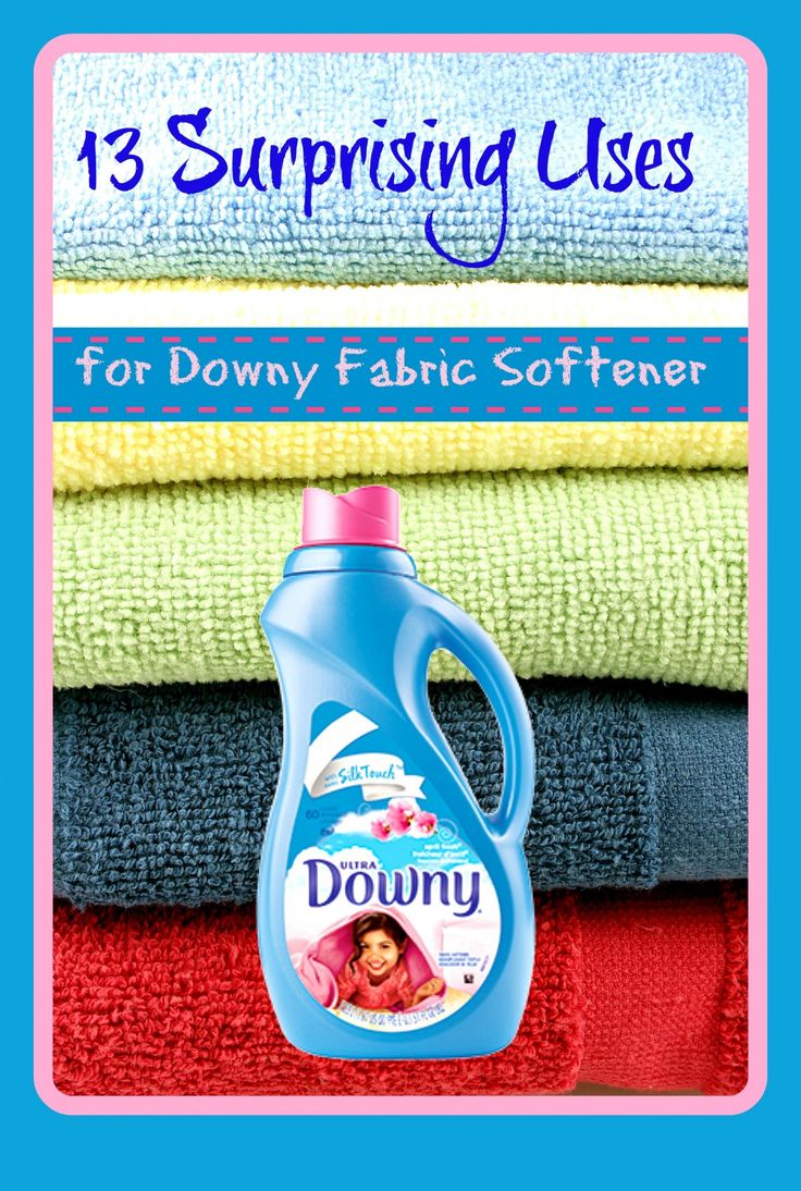 13 Surprising uses for Downy Fabric Softener! Besides making your laundry smell and feel wonderful!