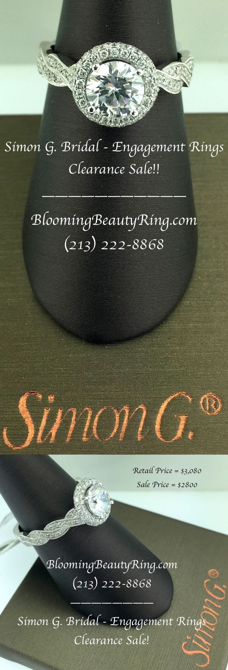 Simon G Bridal  Engagement Rings Clearance Sale!! We Are Clearing