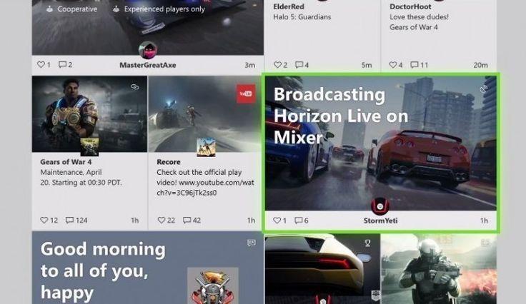 Xbox One'un Yeni Gösterge Panosu Light Mode