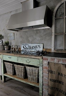 .: Decor, Interior, Dream, Shabby Chic, Rustic Kitchens, Industrial Chic, Farmhouse Kitchen, Kitchen Ideas, Design