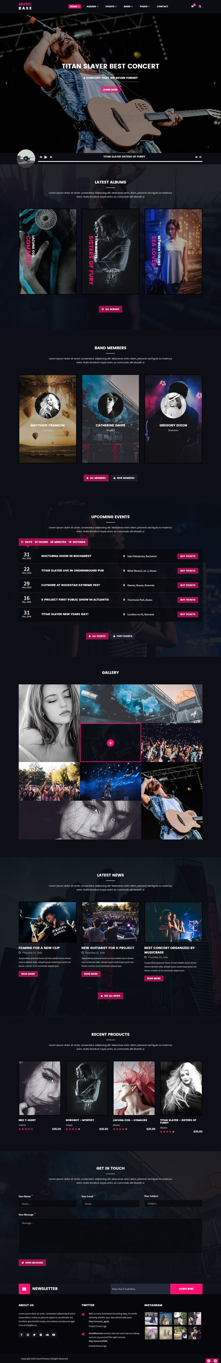 Musicbase is an ideal choice for customers who want to design an amazing music website. It offers a modern and clean design that never fails to impress. This template can be used to improve any web page.--- Check it out now! | Just $19.    https://themeforest.net/item/musicbase-band-artist-radio-html-template/18200280?ref=future-themes