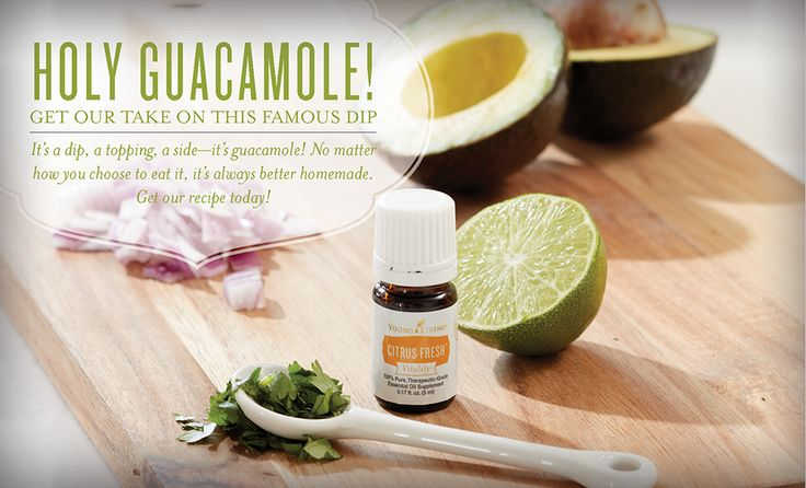 Young Living | Guacamole Recipe with Citrus Fresh Vitality and Lime Vitality Essential Oils!  Yummy!!  For more info, visit:  WWW.THESAVVYOILER.COM