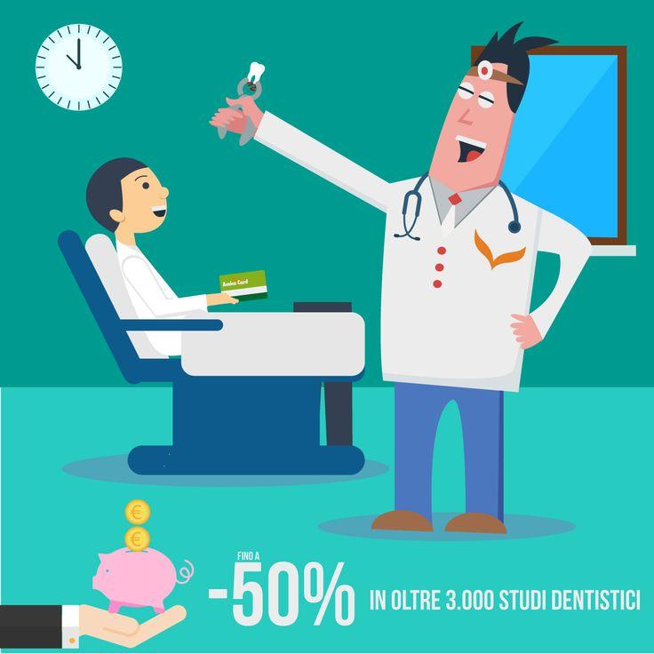 Il #dentista arriva alla radice del problema, Amica Card anche! Risparmia fino al 50% in oltre 3.000 studi dentistici convenzionati in tutta Italia. #sconti #AmicaCard #salute