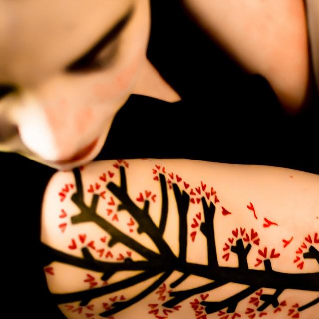 #tattoo #tree #hearts