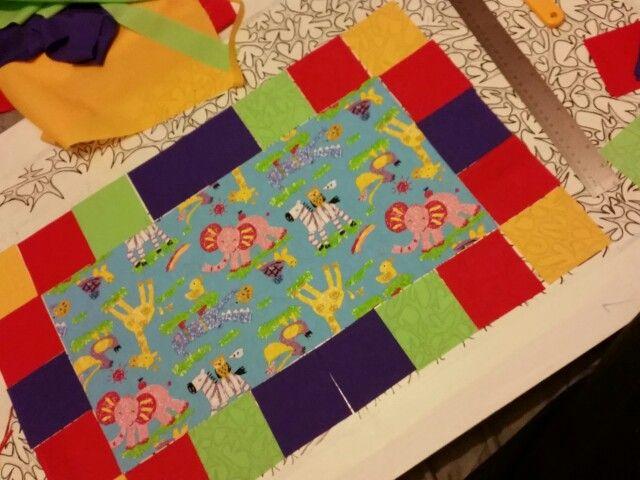 Eli baby boy quilt layout