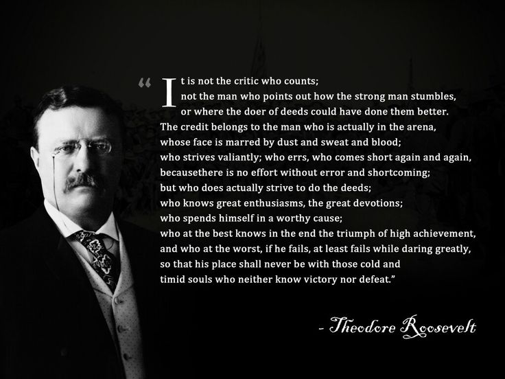 Pin by Mike cowen on To be a Man | Roosevelt quotes ...