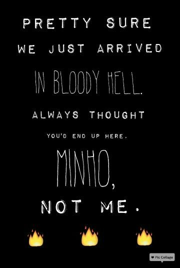 See? Newt can also be very sassy<<<<well he's learned from the best<<<BURRRN, THEY ALWAYS LEARN FROM MINHO!!! Actually my fav quote probably andthe funniest one