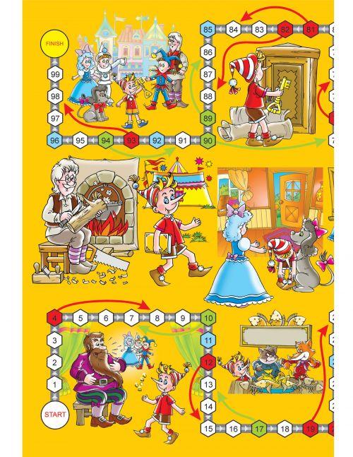 Printable Games: Buratino Pinnochio - KidsPressMagazine.com