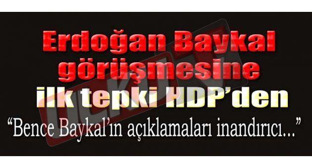Erdogan Ve Baykal Görüşmesine Siyasilerden Tepki Gelmeye Başladı.