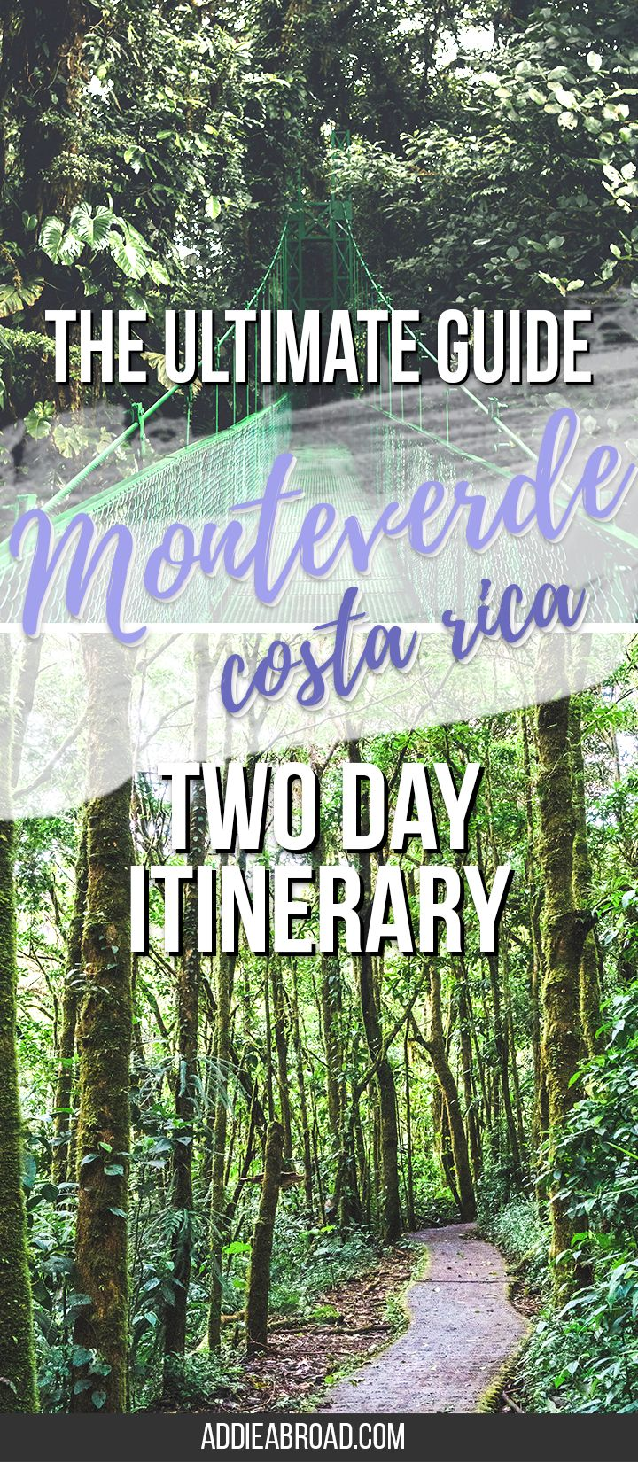 Are you visiting Costa Rica? You need to go to Monteverde! Here's how to spend a great two days in Monteverde, Costa Rica, including what to do, where to stay, and what to pack for Monteverde. via @addieabroad