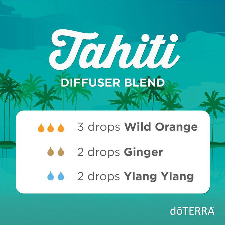If you like floral diffuser blends, this one is for you. Breathe in and travel to Tahiti with the heady scents of Ylang Ylang, Wild Orange, and Ginger.  Join me on Facebook at: Essential Oils for your Well Being