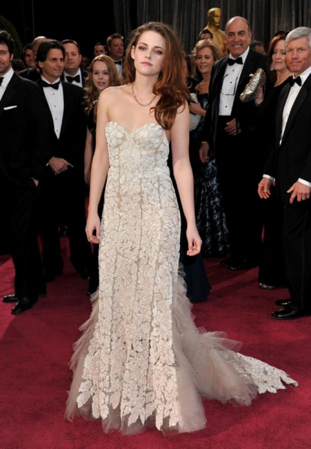 Kristen Stewart, style Reem Acra  Oscars 2013