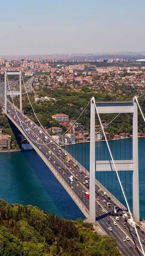 The Bosphorus Bridge: Located on bosphorus strait in Istanbul,Turkey…