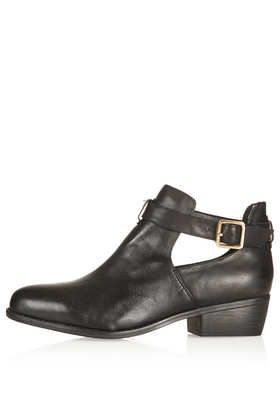 MONTI Cut Out Leather Boots