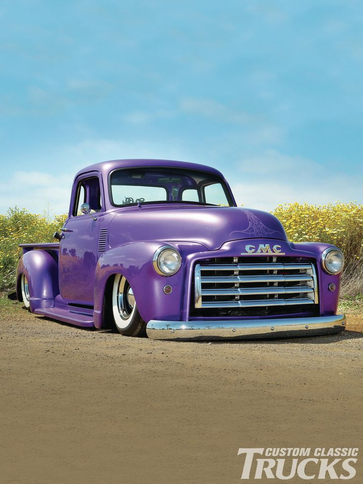 1950 GMC. Beautiful #GotLift? Visit www.rvinyl.com for all of your #CustomTruck parts & accessories
