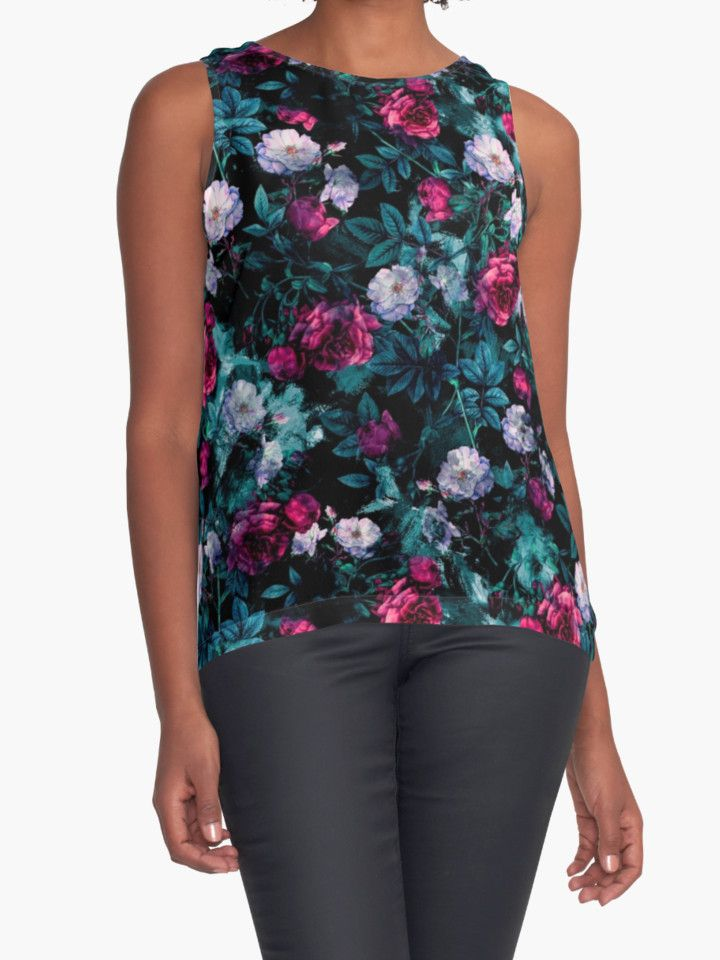 RPE FLORAL ABSTRACT III by RIZA PEKER #women #fasfion #tank #top #floral #summer #style #girls