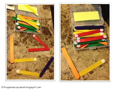Math Station: Making angles with popsicle sticks