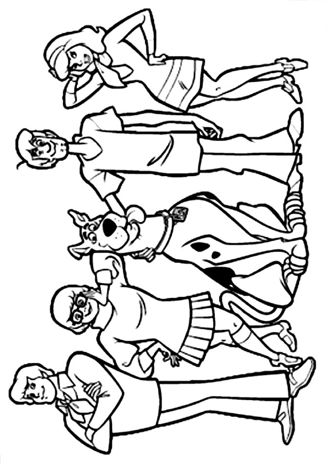 17 best ideas about scooby doo costumes on pinterest for Scooby doo free coloring pages