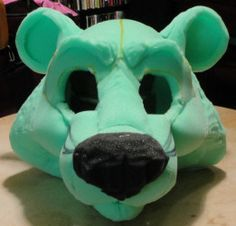 how to make foam mascot heads. Maybe for a FNAF cosplay?