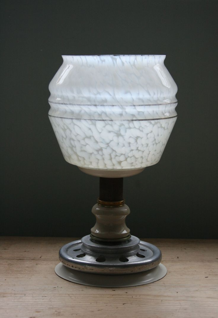 Candlelamp made from recycled items.