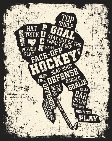 Hockey Canvas Art, Painted Pastimes, Hockey Home Decor