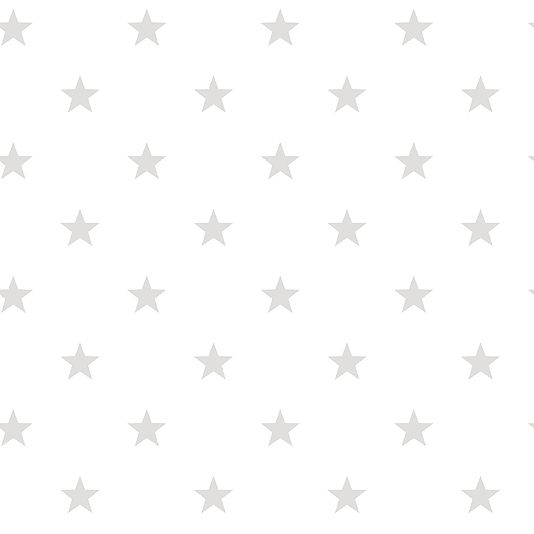 Deauville Stars Wallpaper An off white wallpaper with an all over star design in pale grey.