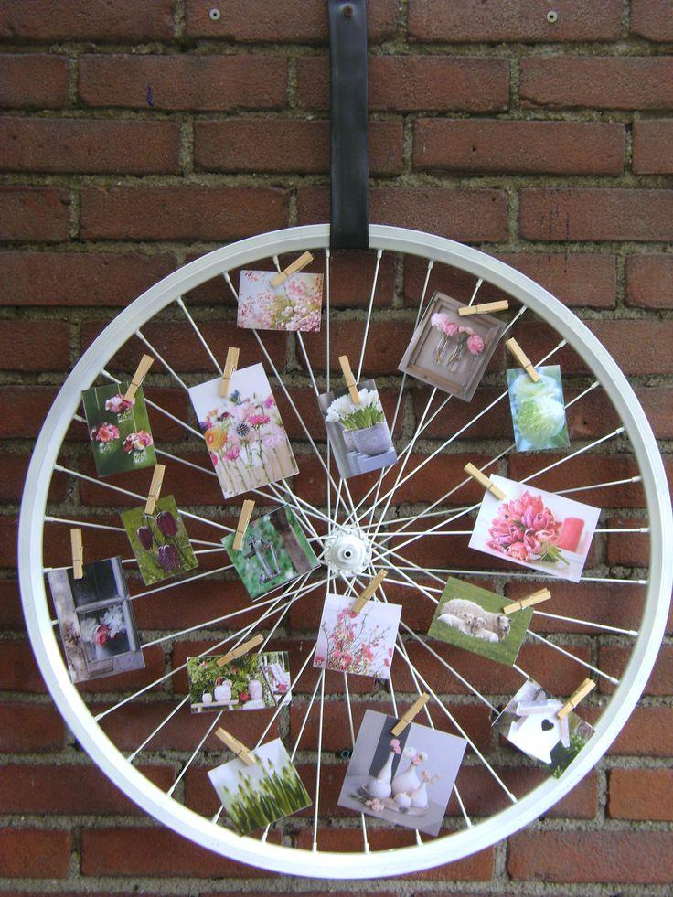 25 beste idee n over fietswiel op pinterest fiets kunst fietswielen en hergebruikte tuin - Versieren van een muur in ...
