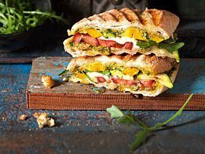 Panini mit gegrilltem Gemüse Rezept   – Sandwiches