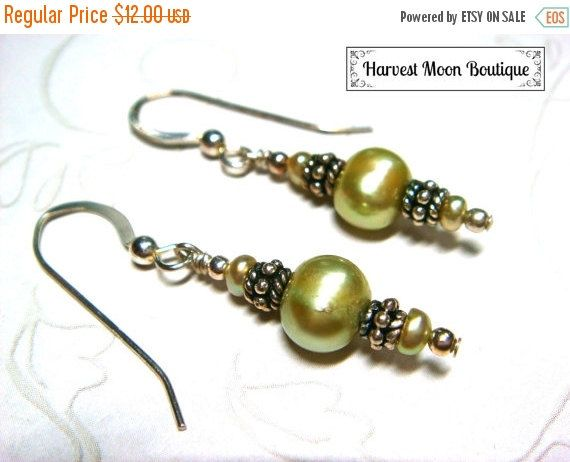 SALE Pearl Wedding Jewelry Cultured Pearl Jewelry Sterling Silver Pearl Earrings Pearl Beach Wedding Earrings Cultured Pearl Earrings Handfa by AngiePinkal