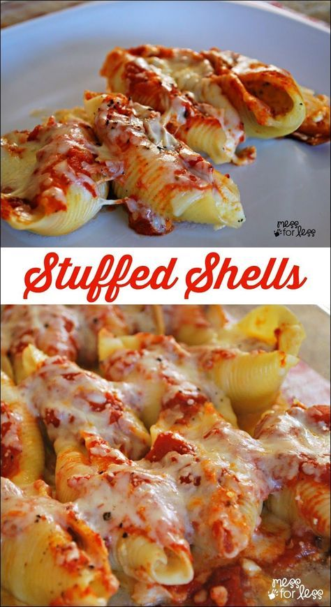 Stuffed Shells Recipe – one of the best easy dinner recipes for families. These …