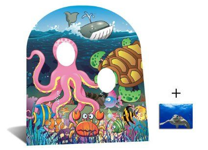Fan Pack - Under the Sea Stand In (child size) Cardboard Cutout / Standee - Includes 8x10 Star Photo: Amazon.co.uk: Toys & Games £17.89