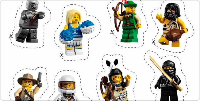 LEGO.com Minifigures : Downloads - Stickers Series 1 - sticker