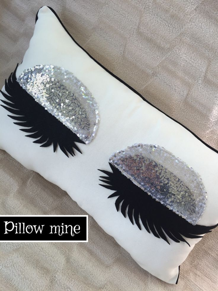 Silver sequin pillow  Eyelash pillow  Eyelash pillow case