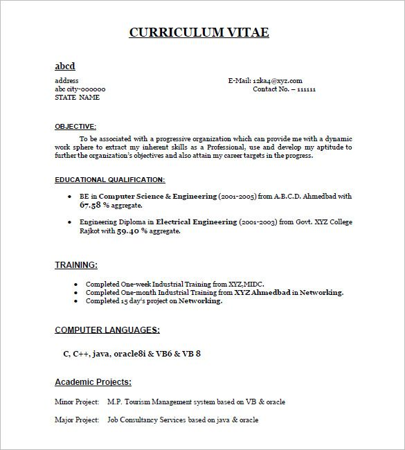 The 25+ best Resume format for freshers ideas on Pinterest - computer engineer resume sample