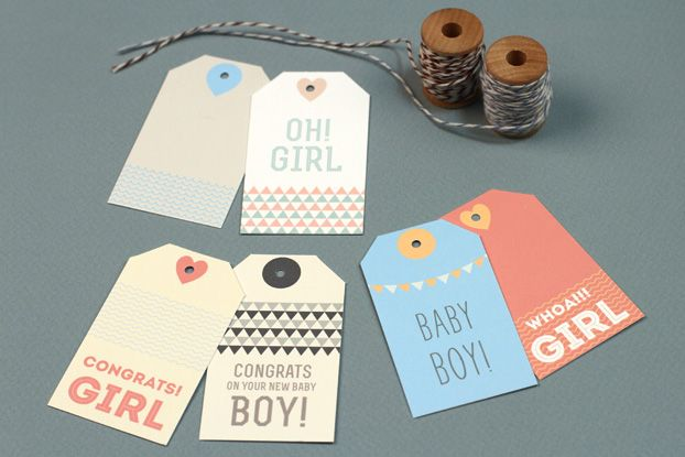 Printable New Baby Gift Tags!  www.lovevsdesign.com