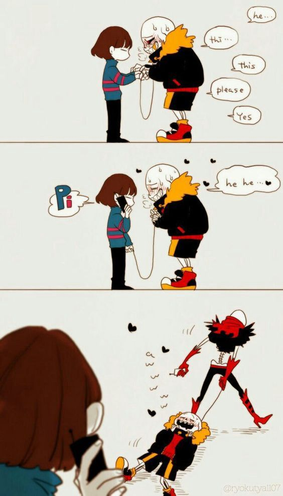 Undertale-All Tale Picture Collection | fav | Underfell sans x frisk