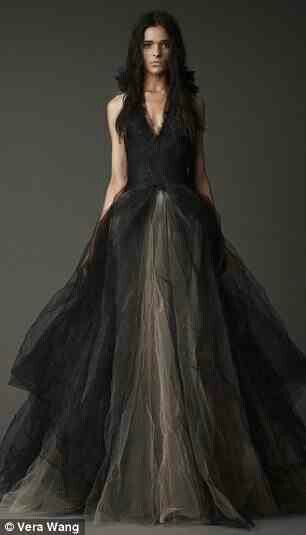 Skirts gothic dress and ball gown on pinterest for Black designer wedding dresses