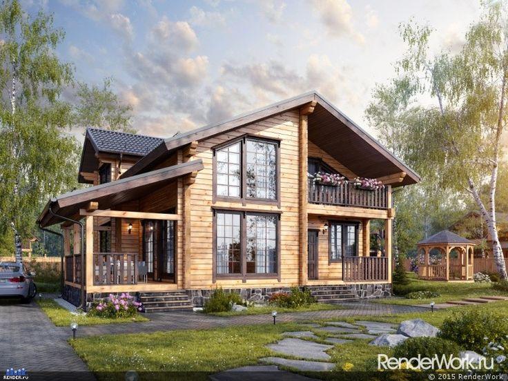 Дом из бруса — Компьютерная графика и анимация — Render.ru