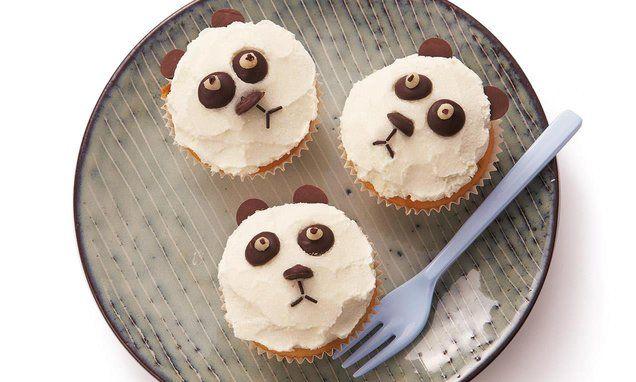 Pandabären - so süss und unschuldig, die kleinen Pandas. So schmecken die Nuss-Nougat-Muffins vor allem auch den Kindern.