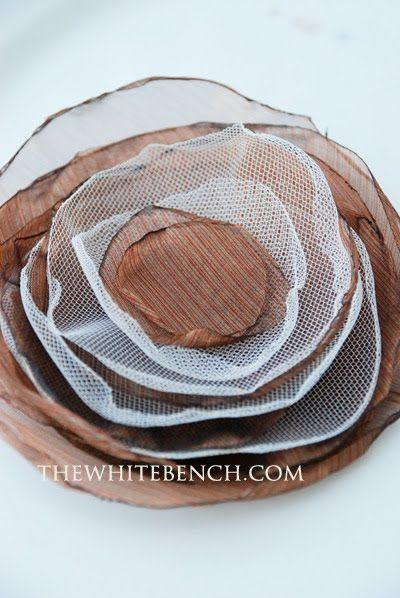 The White Bench: Organza Flowers: a Tutorial.