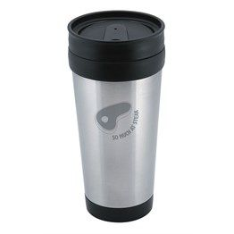 Our Santorini Travel Mug is made from Stainless Steel and utilizes a screw-on safety lid with easy seal tab. http://bit.ly/1dgewgL
