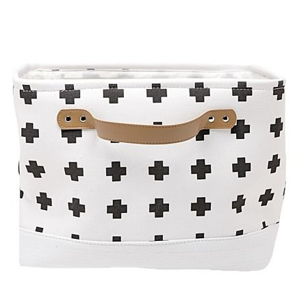 Living & Co Cross Hamper Rectangle White - Laundry Accessories - Laundry & Bathroom - Homewares - The Warehouse