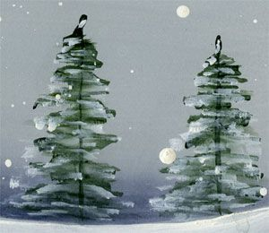 You can paint these trees. Click the image for detailed step by step instructions.