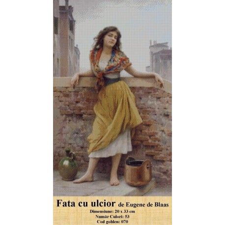 Model goblen Fata cu ulcior de Eugene de Blaas http://set-goblen.ro/portrete/3720-fata-cu-ulcior-de-eugene-de-blaas.html