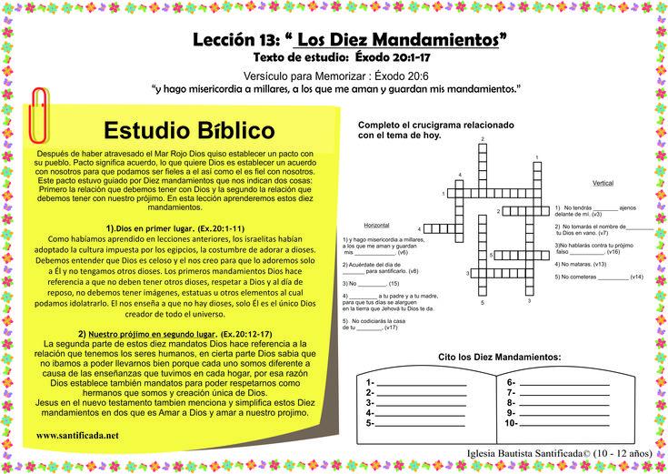 Resultado de imagen para exodo 20 12 para enseñanza para niños